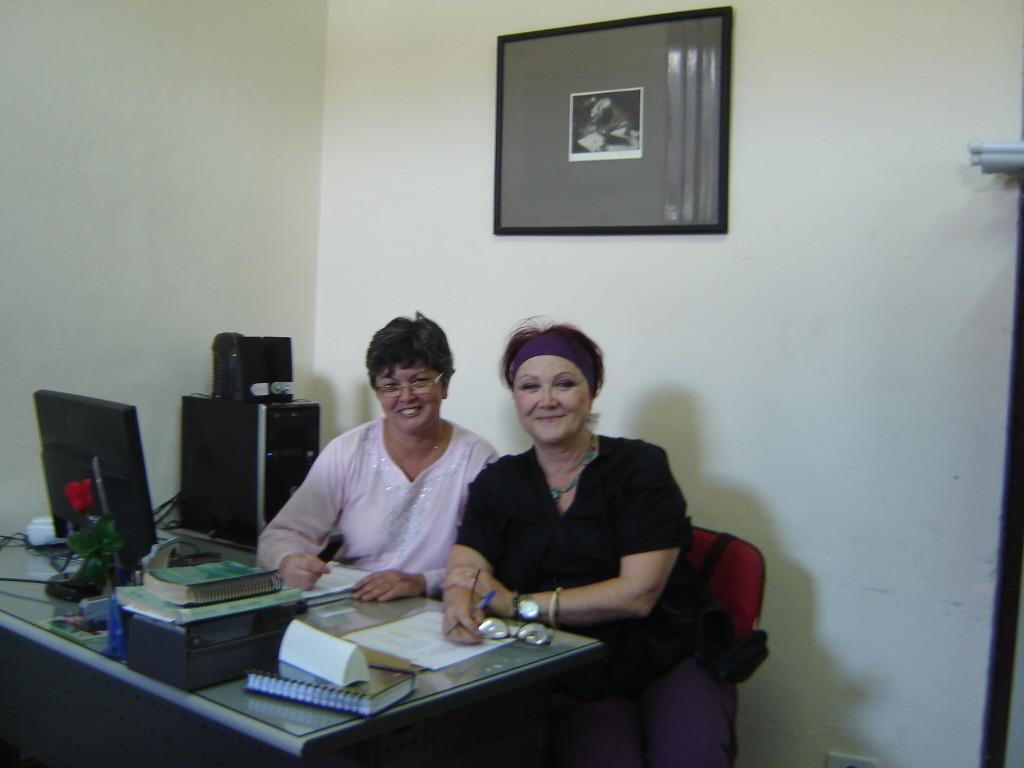 Na Fundação Cultural de Jacareí, com Eleni Garcia