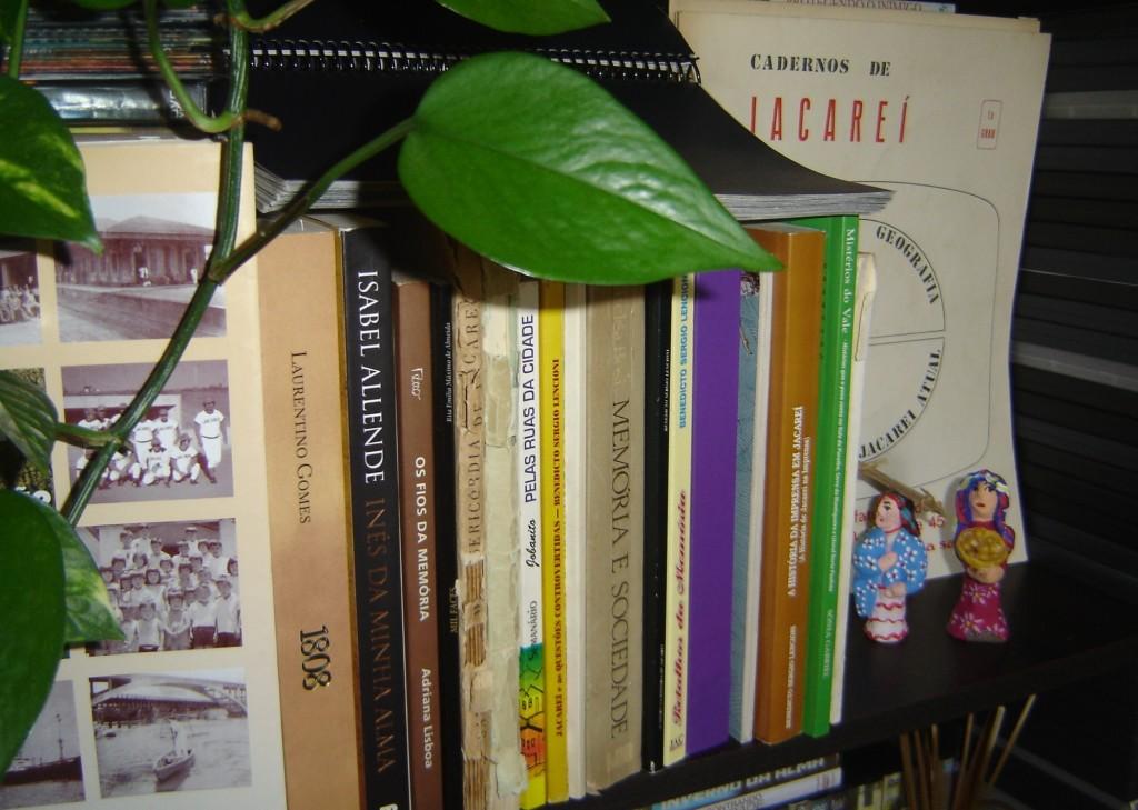 Livros de pesquisa de historiadores, na maioria, jacareienses