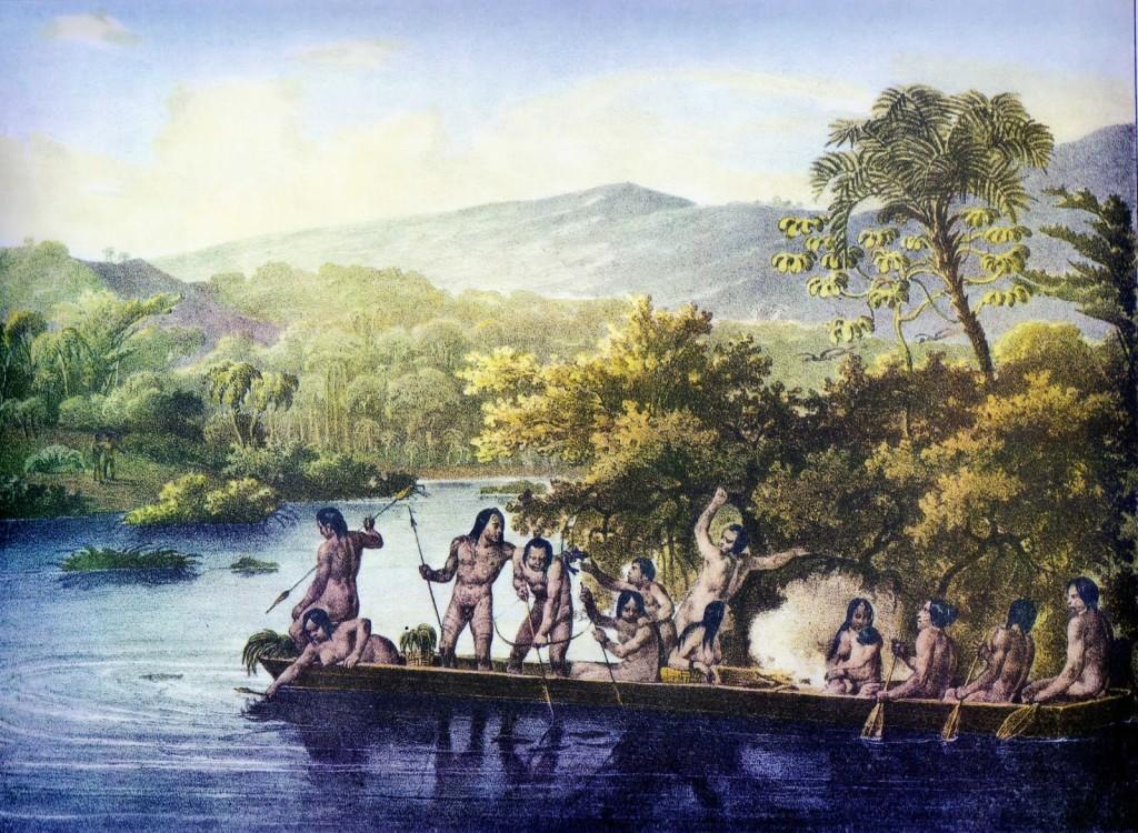 Canoa de índios, Rugendas, domínio público