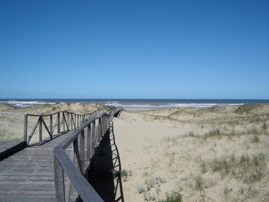 deck sobre as dunas