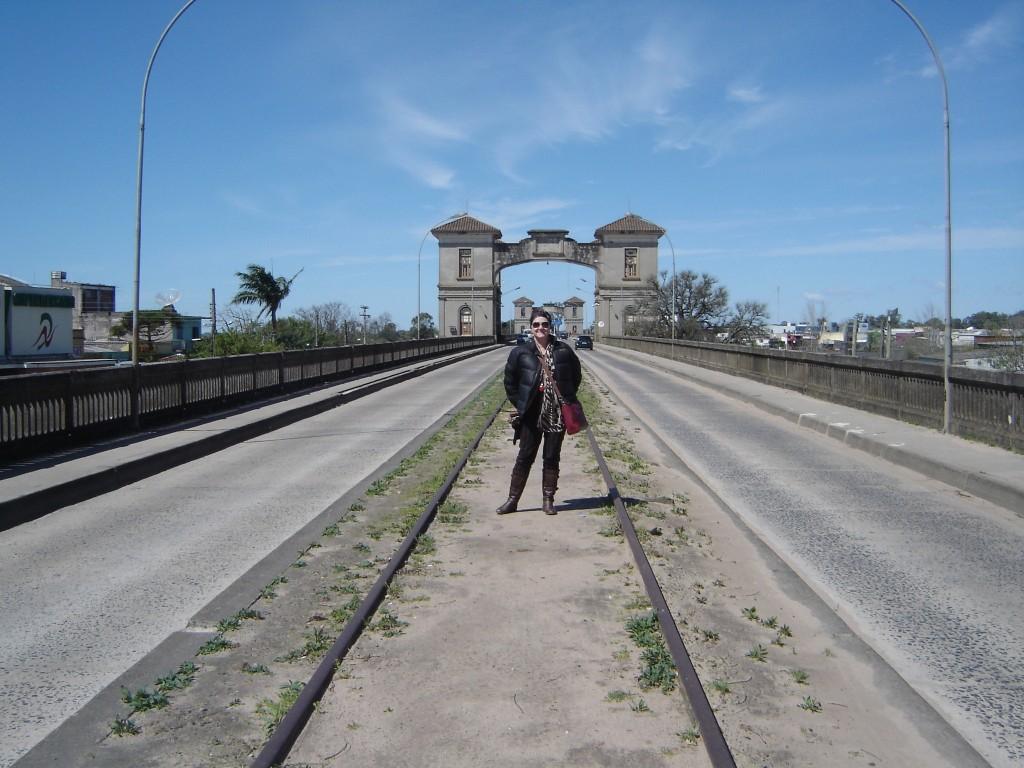 Lud na ponte Jaguarão