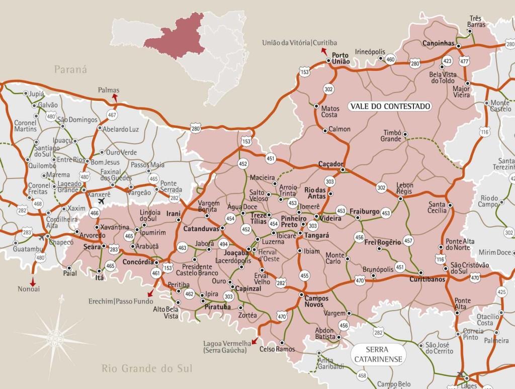 Mapa Treze Tilias