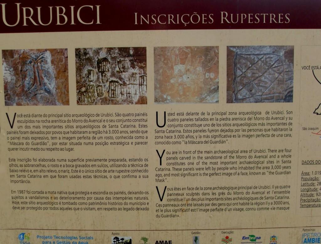 Urubici Cartaz inscrições rupestres