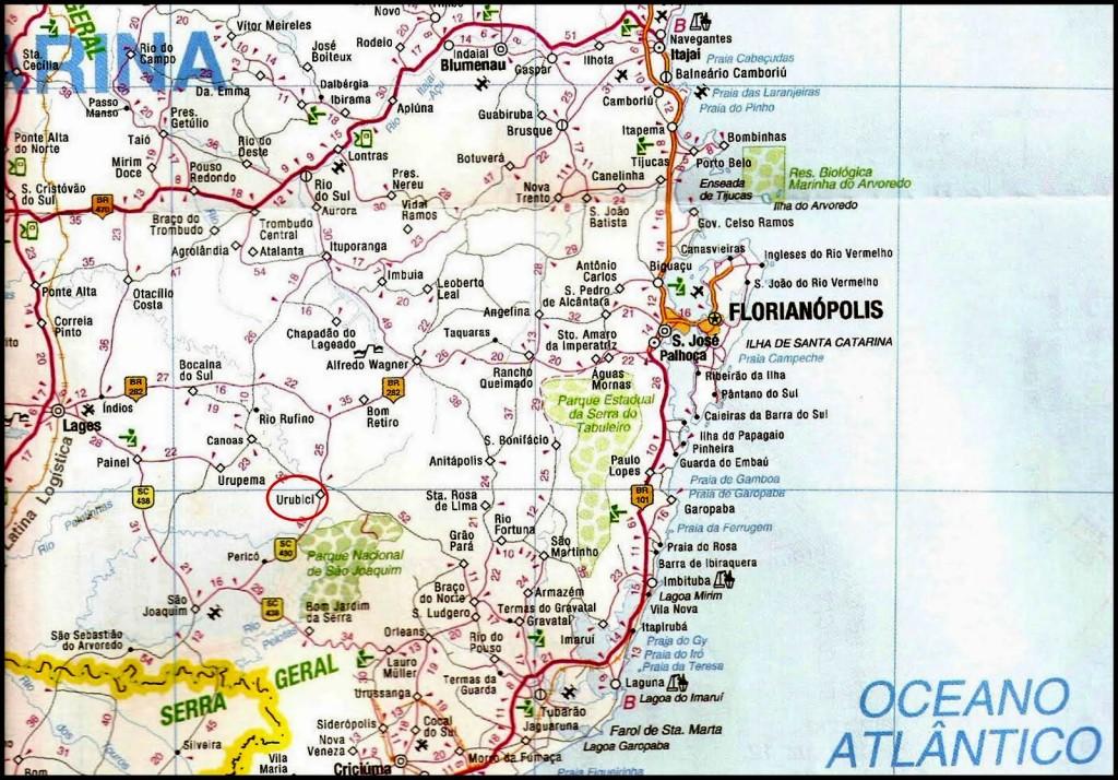 Urubici mapa