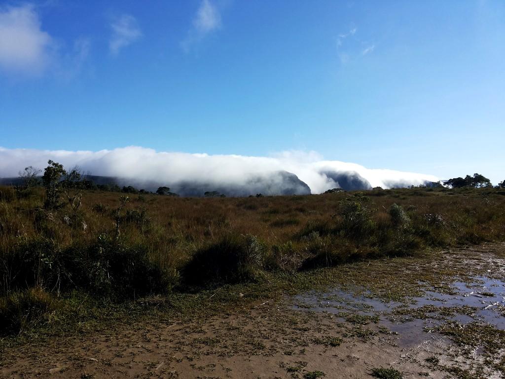 Canion Serra geral coberto de Neblina