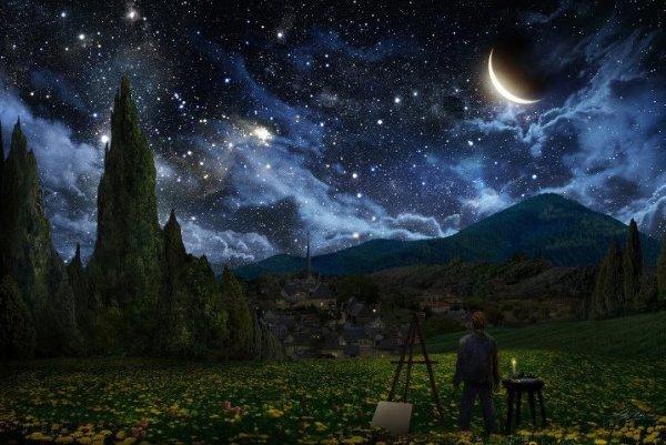 Noite estrelada Vincent Van Gogh