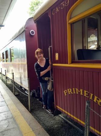 embarcando trem